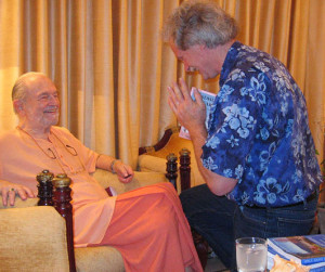 Kent White with Swami Kriyananda