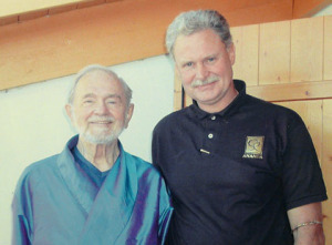 Swami Kriyananda with Kent White
